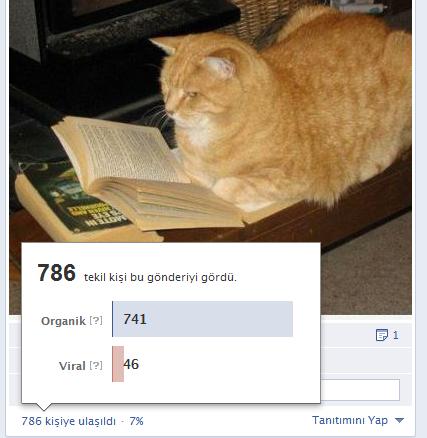Facebook Ulaşılan Kişi Sayısı